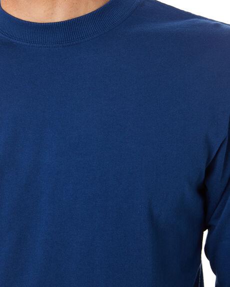 WASHED INDIGO MENS CLOTHING MR SIMPLE TEES - M-03-31-33WSHIN