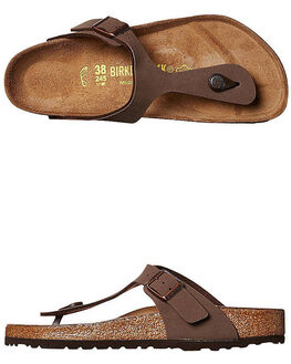 MOCCA WOMENS FOOTWEAR BIRKENSTOCK FASHION SANDALS - 043751WMOC