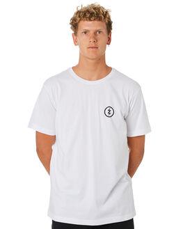 WHITE MENS CLOTHING ELECTRIC TEES - EC-01-49-03WHT