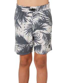 BLACK WHITE KIDS BOYS VOLCOM BOARDSHORTS - C2541901BWH