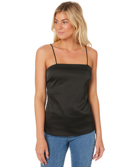 BLACK WOMENS CLOTHING LULU AND ROSE FASHION TOPS - LU23168BLK