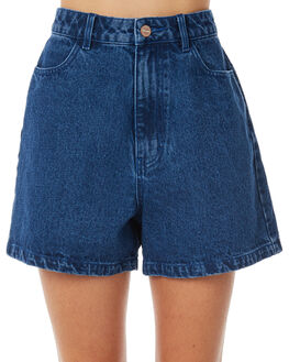 BRIGHT INDIGO WOMENS CLOTHING AFENDS SHORTS - W181300BIND