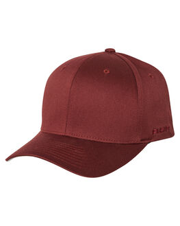 BURGUNDY MENS ACCESSORIES FLEX FIT HEADWEAR - 162602-BUR