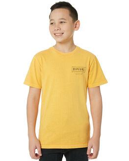 BRIGHT YELLOW KIDS BOYS RIP CURL TOPS - KTEJF99328