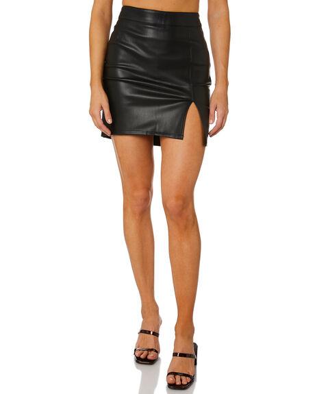 BLACK WOMENS CLOTHING SNDYS SKIRTS - SFSK048BLK