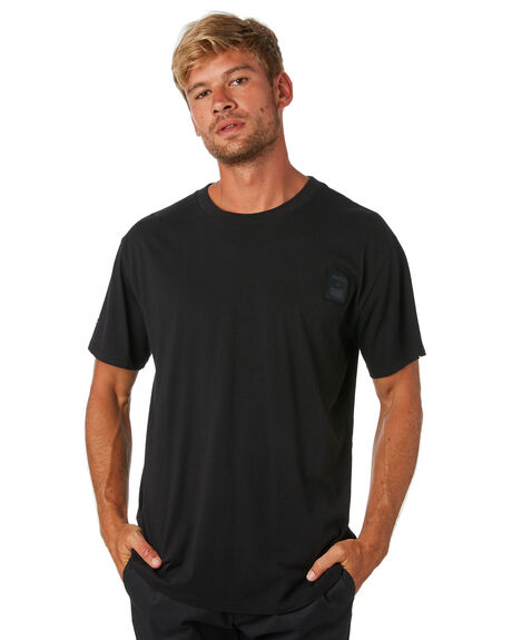 BLACK MENS CLOTHING RVCA TEES - R193066BLK