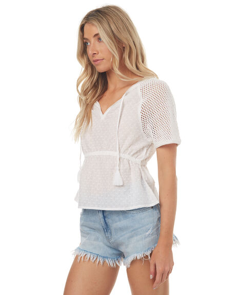 WHITE WOMENS CLOTHING THE HIDDEN WAY FASHION TOPS - H8171173WHITE