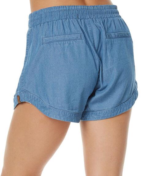 MID BLUE WOMENS CLOTHING RUSTY SHORTS - WKL0590MDB