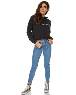BLACK WOMENS CLOTHING RVCA JUMPERS - R274153BLK