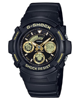 GOLD BLACK MENS ACCESSORIES G SHOCK WATCHES - AW591GBX-1A9BKGLD