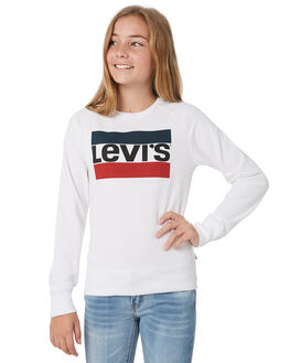 WHITE KIDS GIRLS LEVI'S JUMPERS + JACKETS - 37382-0010001