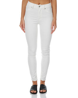 WHITE WOMENS CLOTHING CHEAP MONDAY JEANS - 0389663WHT