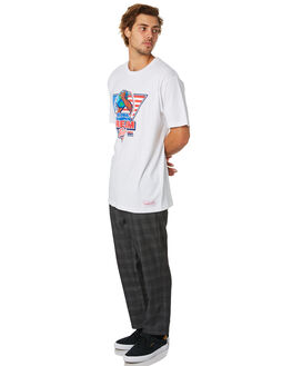 USA WHITE MENS CLOTHING MITCHELL AND NESS TEES - 4173USA92CHAMPSWHT