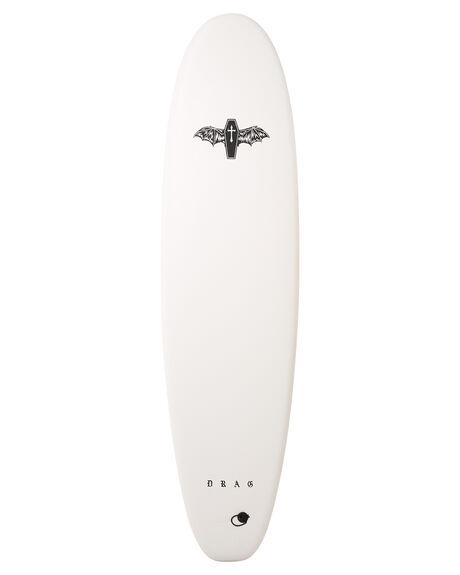 WHITE WHITE BOARDSPORTS SURF DRAG SOFTBOARDS - DBCCOFF7WHT