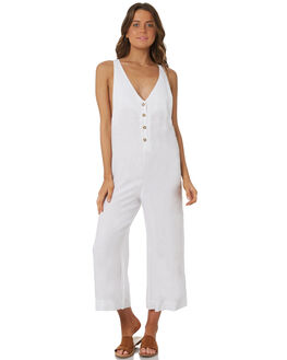 WHITE WOMENS CLOTHING RHYTHM PLAYSUITS + OVERALLS - OCT18W-JS04WHT