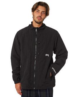 BLACK MENS CLOTHING STUSSY JACKETS - ST097500BLACK