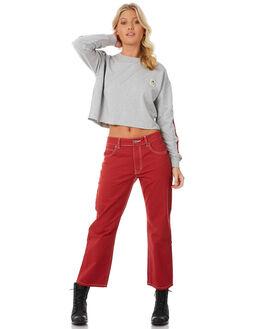 GREY MARLE WOMENS CLOTHING RVCA JUMPERS - R281153GYM