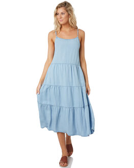 POWDERY BLUE WOMENS CLOTHING RUSTY DRESSES - DRL1028BLUE