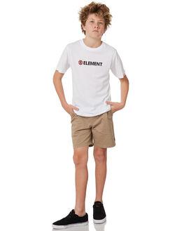 OPTIC WHITE KIDS BOYS ELEMENT TEES - 383001OPWHT