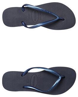 NAVY BLUE WOMENS FOOTWEAR HAVAIANAS THONGS - HSMS0555NBL