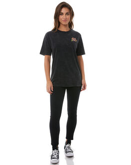 ACID BLACK WOMENS CLOTHING SANTA CRUZ TEES - SC-WTA8554ABLK