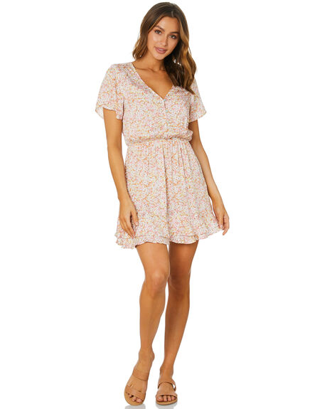 BLOSSOM FLORAL WOMENS CLOTHING THE HIDDEN WAY DRESSES - H8212451BLSFL