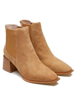 CARAMEL SUEDE WOMENS FOOTWEAR SOL SANA BOOTS - SS202W422CRMLS