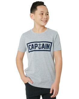 HEATHER BLACK KIDS BOYS CAPTAIN FIN CO. TOPS - CFB3041600HBK