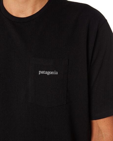 BLACK MENS CLOTHING PATAGONIA TEES - 38511BLK