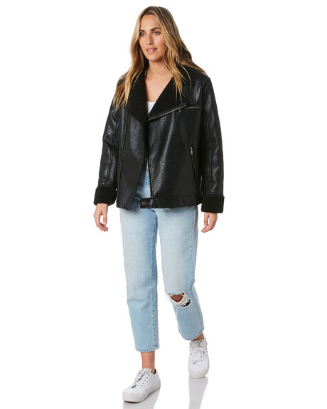 BLACK WOMENS CLOTHING ALL ABOUT EVE JACKETS - 6453043BLK