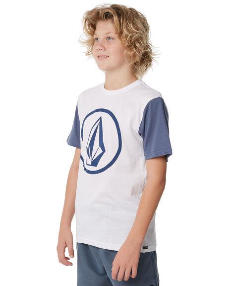 WHITE KIDS BOYS VOLCOM TEES - C5011872WHT
