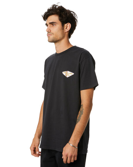BLACK MENS CLOTHING RUSTY TEES - TTM2481BLK