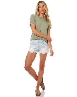 MOSS WOMENS CLOTHING BILLABONG TEES - 6571134MOSS