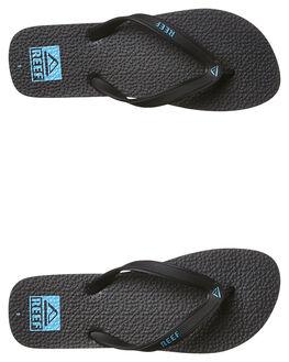 BLACK BLUE WHITE MENS FOOTWEAR REEF THONGS - 0218BBW
