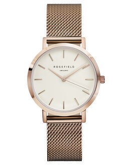 WHITE ROSE GOLD WOMENS ACCESSORIES ROSEFIELD WATCHES - TWR-T50WHIRS
