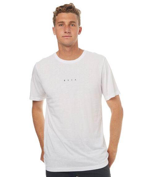 WHITE MENS CLOTHING RVCA TEES - R172046AWHT