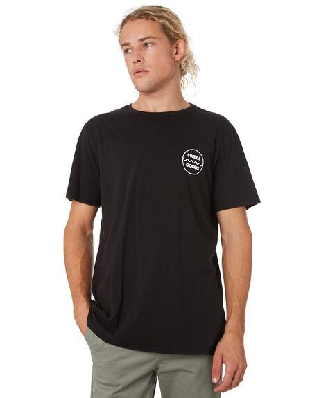BLACK MENS CLOTHING SWELL TEES - S52011008BLACK