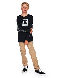 BLACK KIDS BOYS DC SHOES TOPS - UDBZT03216-KVJ0
