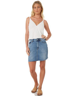 SNAPSHOT BLUE WOMENS CLOTHING RIDERS BY LEE SKIRTS - R551448FK9
