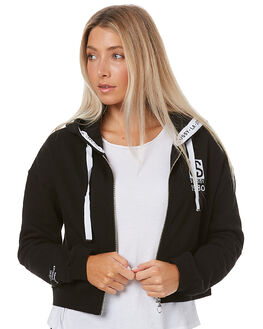 BLACK WOMENS CLOTHING STUSSY JUMPERS - ST176317BLK
