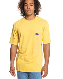 AMBER YELLOW MENS CLOTHING QUIKSILVER TEES - EQYZT05248-NHA0