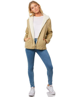 WHEAT WOMENS CLOTHING BILLABONG JACKETS - 6596891W15