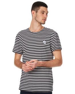 BLACK WHITE MENS CLOTHING CHEAP MONDAY TEES - 0443166BLKW