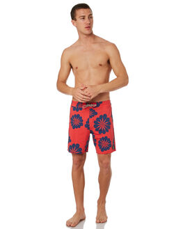 RED MENS CLOTHING CAPTAIN FIN CO. BOARDSHORTS - CR183833RED