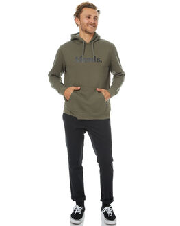 DUSTY OLIVE MENS CLOTHING AFENDS JUMPERS - 06-01-036DOLIV