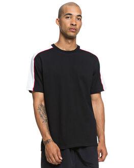 BLACK MENS CLOTHING DC SHOES TEES - EDYKT03432KVJ0