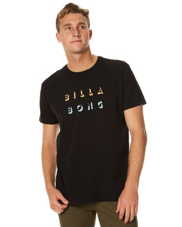 BLACK MENS CLOTHING BILLABONG TEES - 9571061BLK