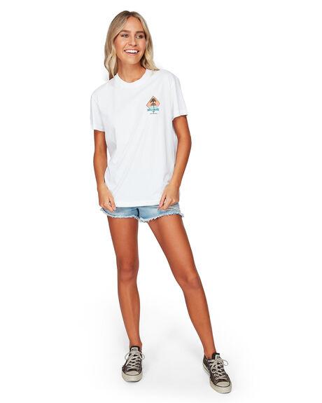 WHITE WOMENS CLOTHING BILLABONG TEES - BB-6592003-WHT