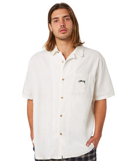 WHITE MENS CLOTHING STUSSY SHIRTS - ST083412WHT