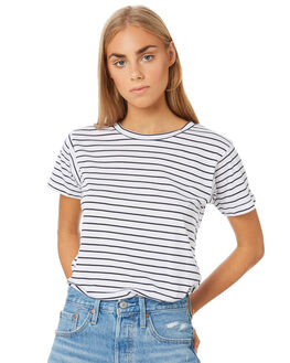 NAVY STRIPE WOMENS CLOTHING NUDE LUCY TEES - NU22875SNSTP